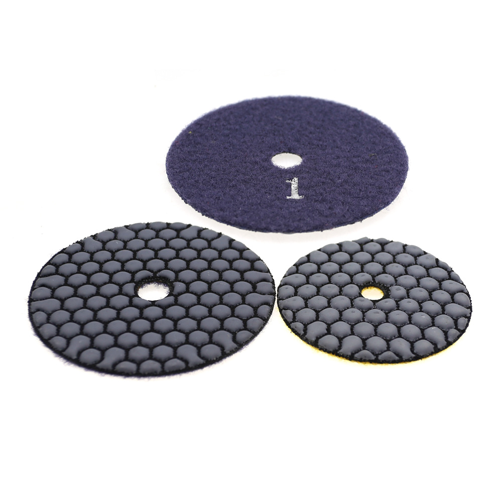 1 Piece Dry Polishing Pad Honeycomb Quick-change Granite Mable Grinding Disc