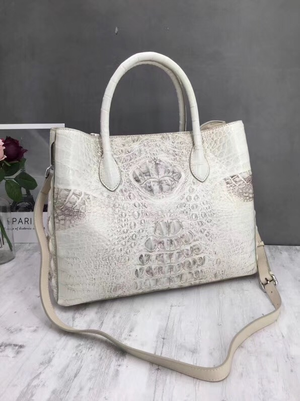 Модные однотонные Цвет дизайнер из натуральной крокодиловой кожи женские большие сумки сумка из крокодиловой кожи Для женщин верхняя ручк