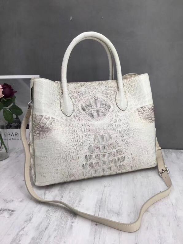 Fashion Solid Color Designer Genuine Crocodile Leather Ladies Large Totes bag Alligator Skin Women's Top handle Shoulder Bag цена