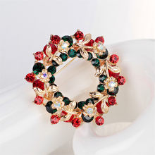 New Pin Elegan Natal Garland Bros Berlian Imitasi Natal Bros(China)
