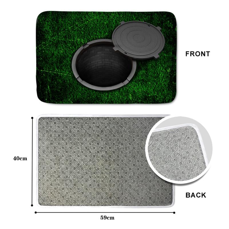 HUGSIDEA 3D Falle Grün Lustige Eingang Fußmatte Weiche - Haustextilien - Foto 2