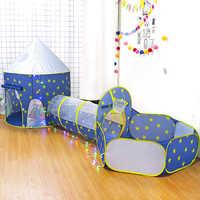 Tienda de campaña 3 en 1 para niños, tienda espacial, tienda de campaña de yurt, casa de juego, cohete, juego, carpa, piscina