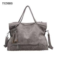 Brand Women Shoulder Bag Luxury Handbags Women Bags Designer Rivet Tassel PU Leather Crossbody Messenger Bags Bolsas Feminina