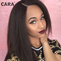 CARA Lace Front Wigs 7A Full Lace Human Hair Wigs Coarse Yaki Lace Front Human Hair Wigs Kinky Straight Peruvian Full Lace Wigs