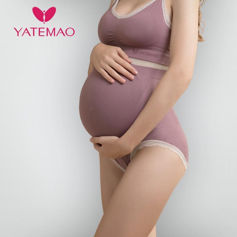 YATEMAO трусы для беременных трусы с высокой талией Нижнее Белье для беременных Одежда для беременных оптовая продажа трусики нижнее белье