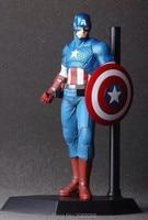 Superheroes Avenger Captain America 20cm PVC Action Figure Jouet 1238 Brinqudos Toys Kids Gift Free Shipping