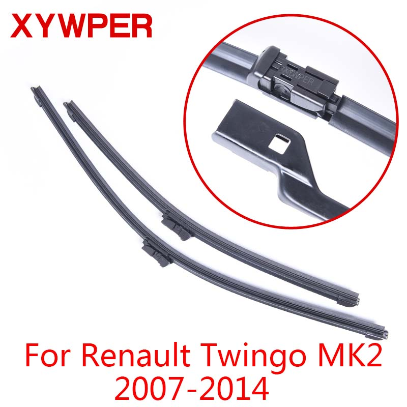 цена XYWPER Wiper Blades for Renault Twingo 2007 2008 2009 2010 2011 2012 2013-2017 Car Accessories Soft Rubber Windshield Wipers