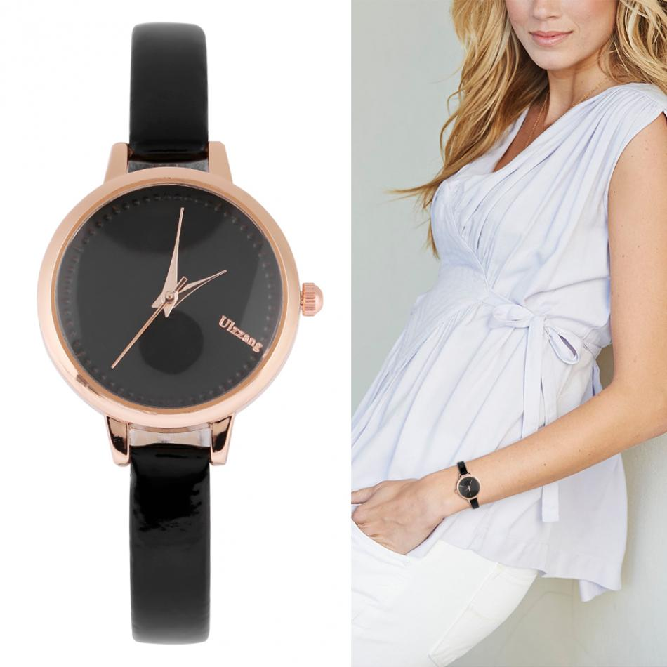 4 Colors Stylish PU Leather Strap Quartz Watch Women Female Analog Wristwatches elogio Feminino Fhanio Casual Grils Gift Clock