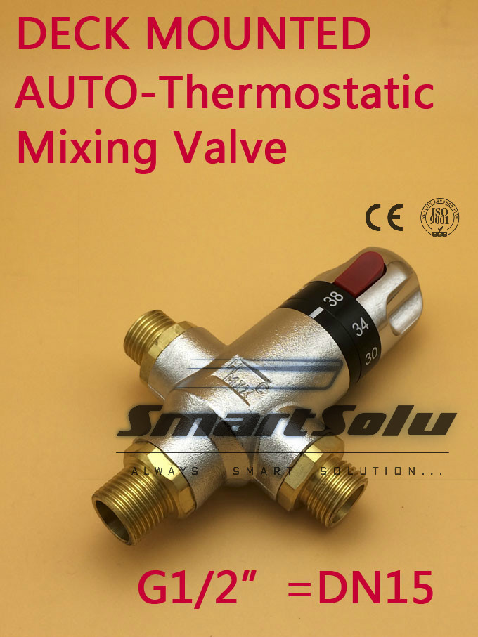 Free Shipping Brass G1/2 Thermostatic Mixing valve Hot Cold Water for Bidet sprayer Hand Shower ,DN15 thermostatic valve mixer free shipping 3 4 dn20 stainless steel float valve floating valve cold and hot water tank water tower df1211