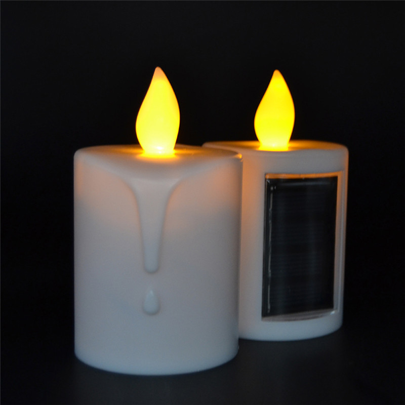 Solar Energy Candles For Outdoors With Bright Amber Light For Halloween  Decoration Solar Energy Powered Night Light