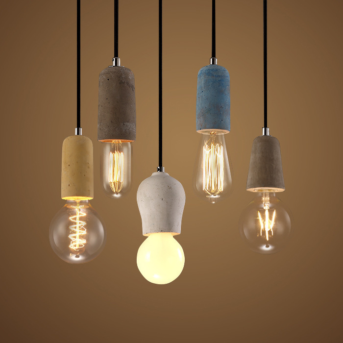 Vintage Retro Industrial Pendant Luminaire Light American Country Style E27\/E26 Socket Cement
