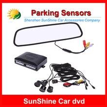 2015 NEW Car detector 4 Parking Sensors Alarm 7″ TFT LCD Display Camera Video Car Rearview Mirror Reverse System speed Detector