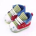 Nova Chegada Bonito Da Lona Sports Elastic Band Estampas de Animais Sapatos de Bebê 0-12 Meses