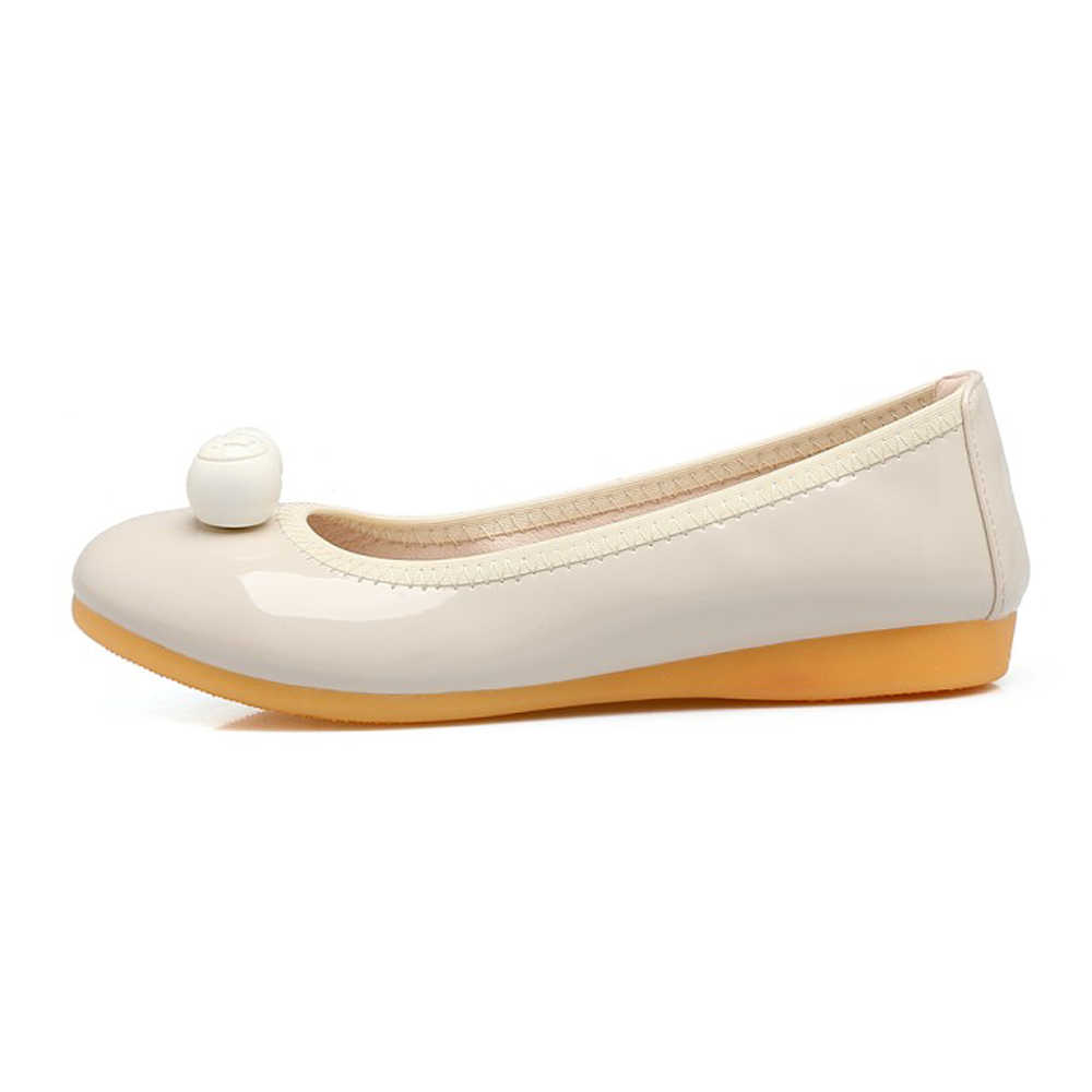 FOREADA Lente Loafers Schoenen Vrouwen Lakleer Platte Boot Schoenen Casual Ronde Neus Ballet Flats Schoenen Vrouwelijke Rode Big Size 34-40