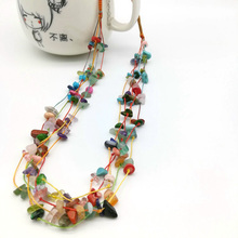 цены Natural Coral Stone Gem Collar Necklaces Original Vintage Bohemia Statement Choker Fashion Charms Women Jewelry Gift