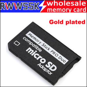 Image 2 - 200 teile/los Micro Sd karte Adapter zu MS Karte Gold überzogene MS Pro Duo Adapter TF Kartenleser Memory Stick bis zu 16GB