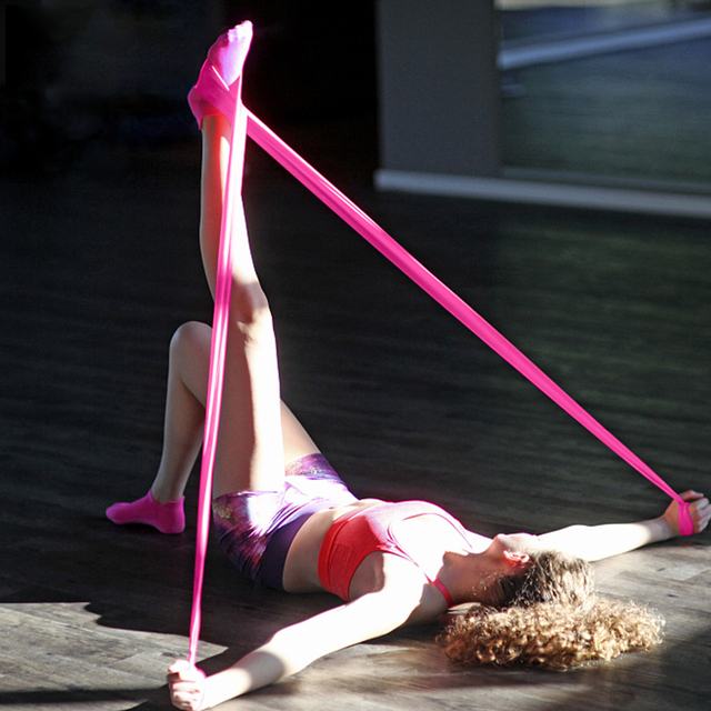 Banda de yoga de resistencia de goma para estirar