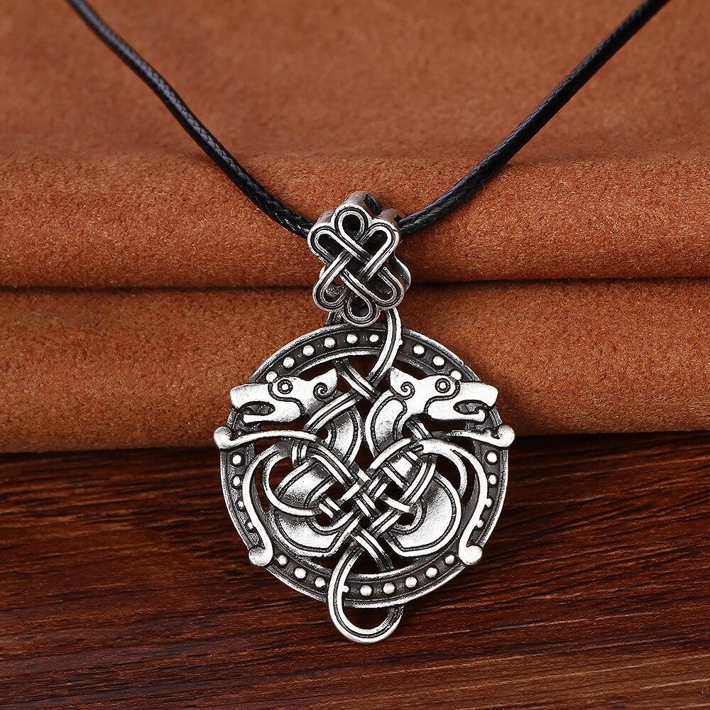Odin Sleipnir Viking Anhänger Halskette Drachen Valknut Halskette ...