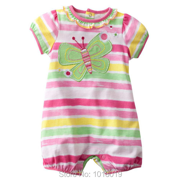 Branded High Quality 100% Cotton  Ropa Bebe Newborn Baby Girl Clothing ClothesRomper Creepers Jumpsuits Baby Girl Romper Summer 100% cotton ropa bebe baby girl rompers newborn 2017 new baby boys clothing summer short sleeve baby boys jumpsuits dq2901