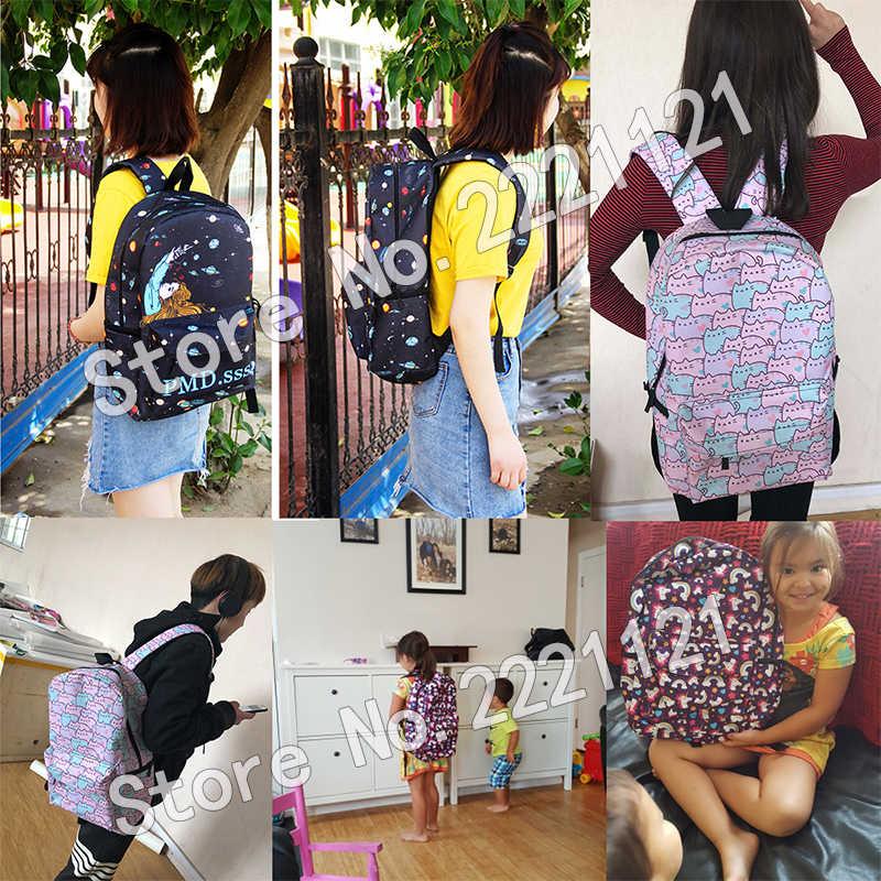 Забавный Акита Шиба ину собака/котенок кошка рюкзак для подростков девочек мальчиков мяч для ног детский школьный череп единорог Мужская Дорожная сумка