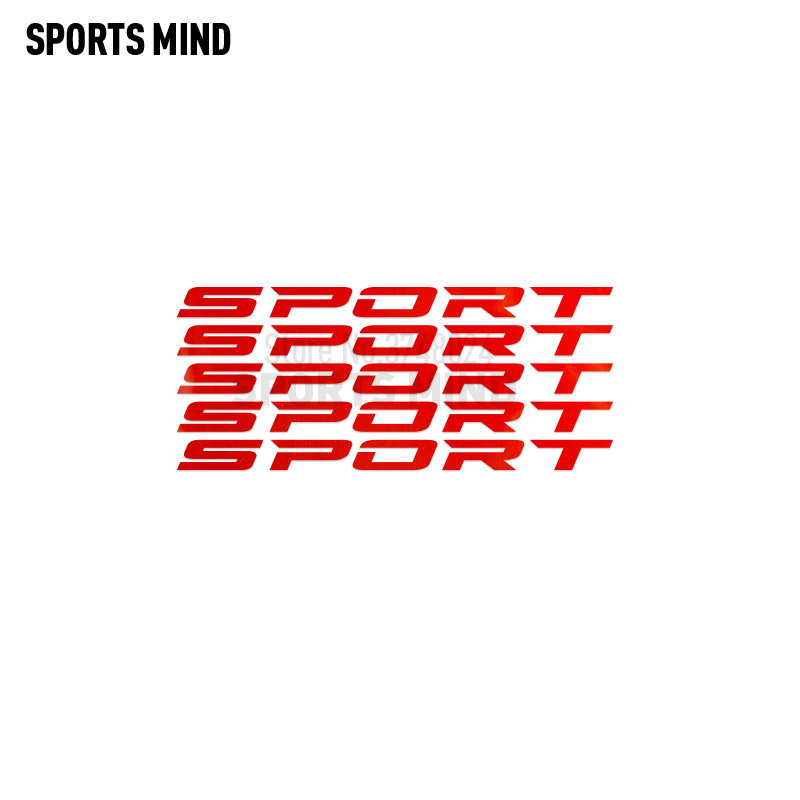 Set of 4 red SPORT Decals Stickers for Wheels Rims Racing Car Emblem logo LOT