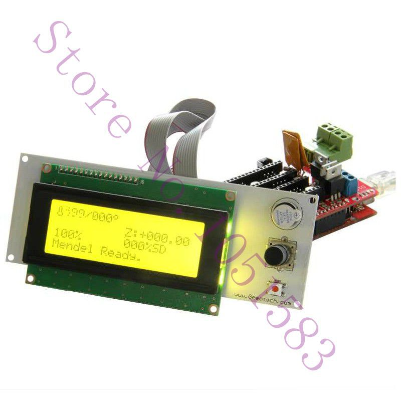 3D printer parts/kit reprap smart controller Reprap Ramps 1.4 2004 LCD control,SD card reader and rotary encoder Free shipping