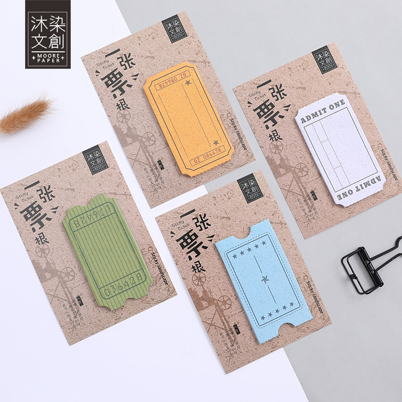 12 Set Memo Pads Sticky Notes Vintage post Paper Post It iary Scrapbooking Stickers Office School stationery Bookmark