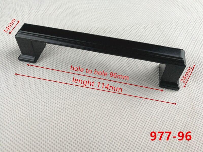 Ручки для шкафа из цинкового сплава черного цвета в американском стиле, дверные ручки для кухонного шкафа, ручки для выдвижных ящиков, модные мебельные ручки, фурнитура - Цвет: 977-96
