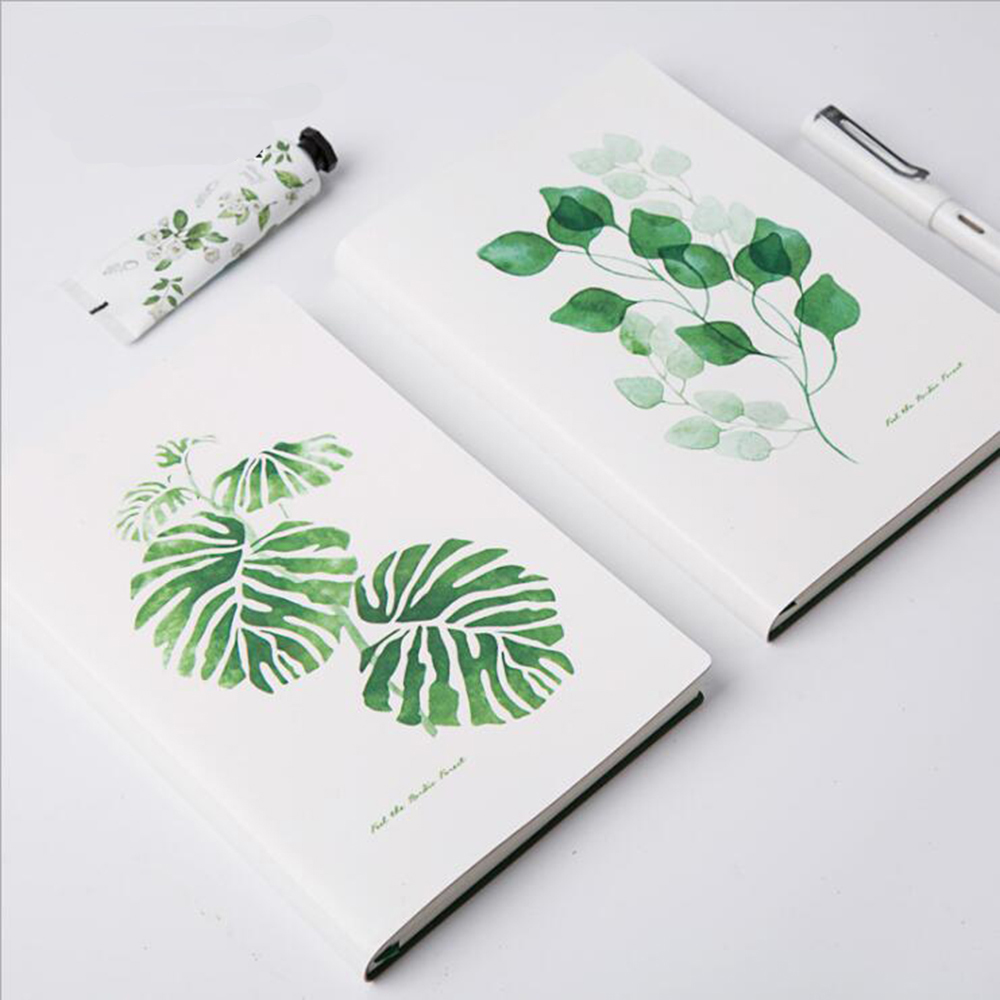 Concise Forest Series Hardcover Faux Leather A5 Notebook Creative Fresh Plant Decoration Planner Diario Journey Note Organizer haruki murakami journey hardcover chinese edition