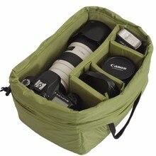 лучшая цена Storage Bag Camera Bag Canvas Large Capacity Photography Accessories For SLR Cameras ShockproofCAREELL 9906