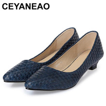 CEYANEAONew fashion Office Lady low heels Shoes woman single