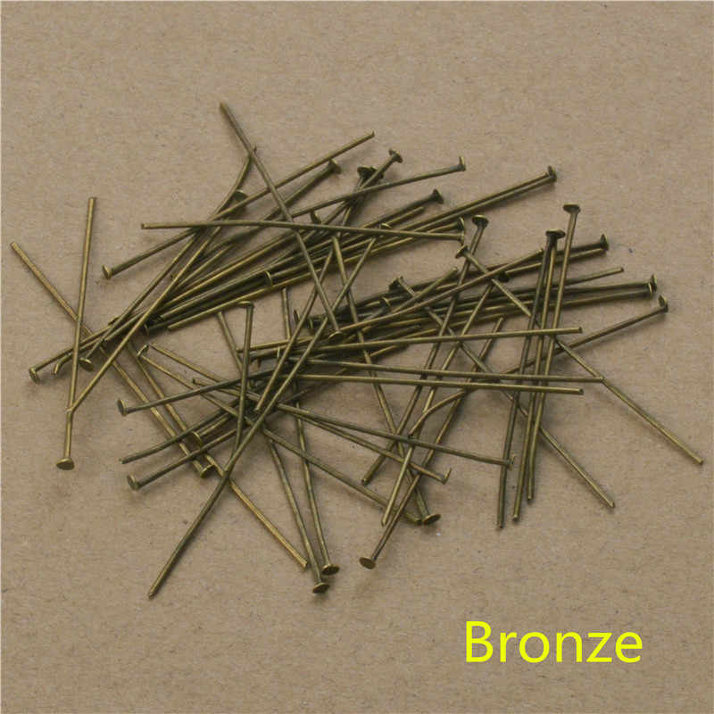 200 PCs Gun Hitam Warna 40 50mm Datar Kepala Pins Membuat Perhiasan Aksesoris DIY Untuk Anting-Anting Gelang Perhiasan Hadiah temuan Jarum