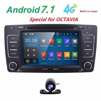 Two Din 7 Inch Car DVD Video Player For SKODA Octavia 2009 2013 CANBUS GPS Navigaiton