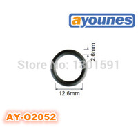 free shipping 200pieces viton oring seals 12.6*2.6mm for fuel injection repair kits replace auto parts For AY O2052
