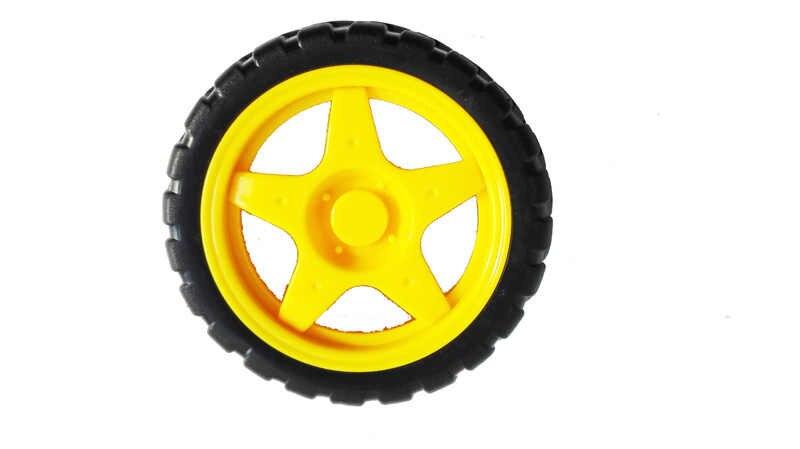 68mm Rubber Wiel Van TT Motor Voor Smar Car Chassis Tracing Obstakel Avoding Afstandsbediening Diy Rc Speelgoed Kit accessoire Deel