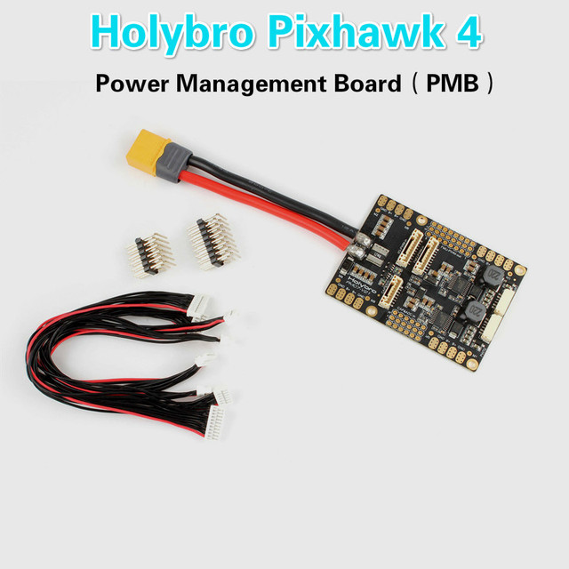 US $35 5 20% OFF|HolyBro PM07 Power Management Board PMB Module 45*45mm  Mounting Holes PCB current 120A w/ 5V UBEC Output for Pixhawk 4-in Parts &