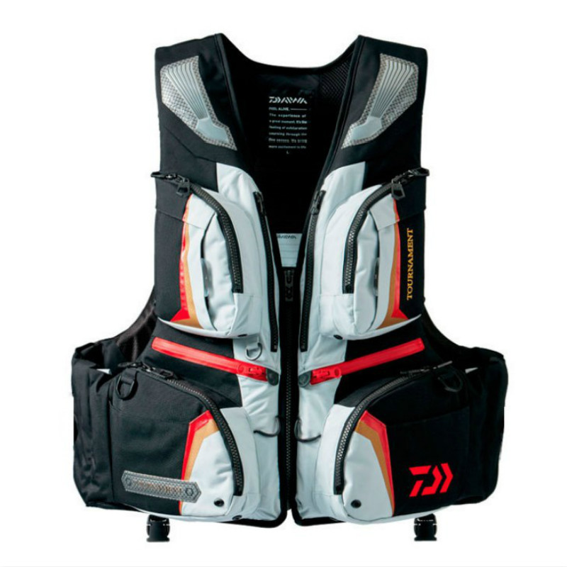 Brand DAIWA DAWA Detachable Breathable Life Jacket Life Vest Fishing Vest Fishing Clothing Fishing Clothes Tackle Flotation Vest mens winter sea fishing clothes one piece suit floating life saving fishing clothing ykk zipper lifesaving whistle fly fishing