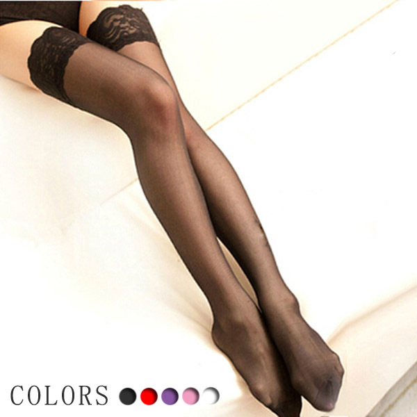 4 Colors Sexy Stylist Fashion Ladies Women Lace Top Stay Up Thigh High Stockings Summer Nightclubs Pantyhose Sex Products
