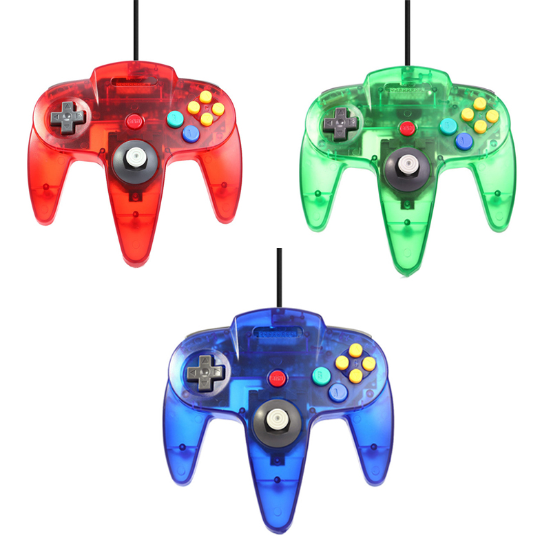 Transparent Wired USB Controller For Nintend N64 Games Wired Clear Gamepad Joypad Joystick For Gamecube For N64 64 PC For Mac for pc retro handheld usb gamepad classic controller for saturn system style high quality wired game controller joypad for mac