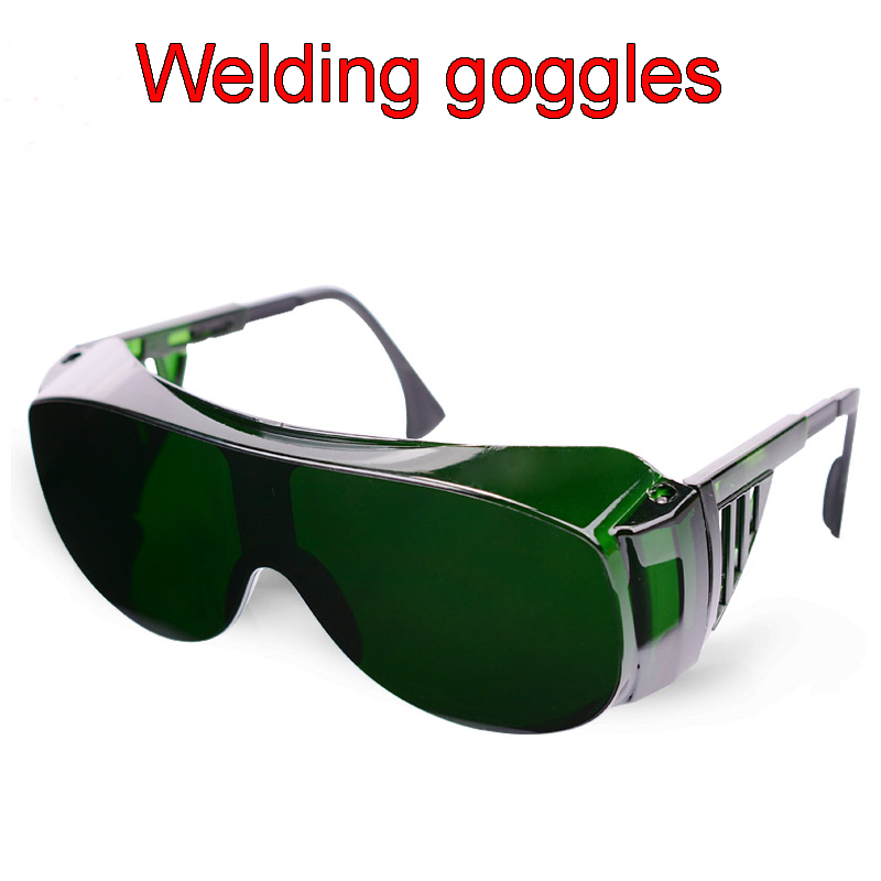 Dark Green Welding Goggles Blinds Design Anti-shock Anti-fog Goggle Anti-UV Anti-glare Welding Gas Cutting Safety Glasses