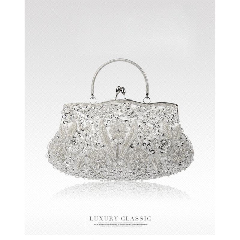 Женская сумка-клатч Queen, украшенная стразами и жемчугом, с вышивкой, Роскошная вечерняя сумочка, розовая сумочка, женские клатчи на каждый де...