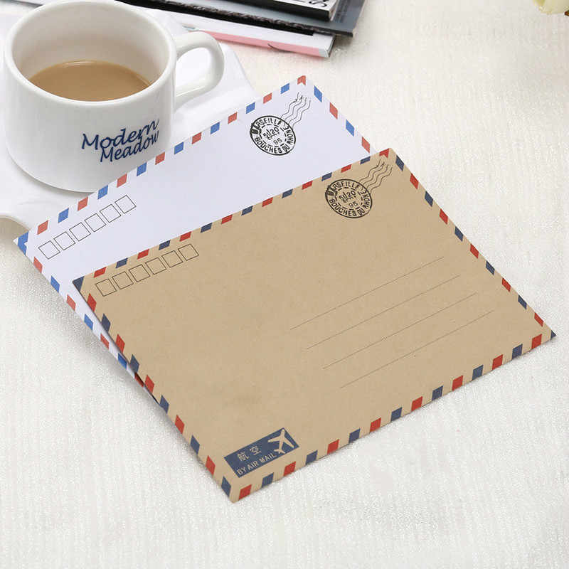 8 PCS/Lot Large Postcard Letter Stationery Paper Kraft Envelope Vintage Wallet Envelope for Student School Office Gift