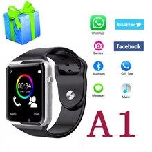Reloj inteligente A1 PK GV18 U8 SmartWatch DZ09 GT08 Con Cámara Bluetooth Touch Relojes Podómetro Sleep Tracker para IOS Android teléfono