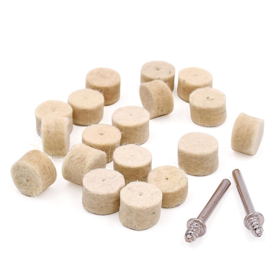 100pcs utensili abrasivi rotanti feltro lana lucidatura mola gioielli - Utensili abrasivi - Fotografia 4