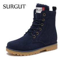 SURGUT Fashion Unisex Winter Stiefel Komfortable Stiefeletten Männer Stiefel Qualität Leder Schuhe Warme Schuhe Liebhaber Paar Stiefel