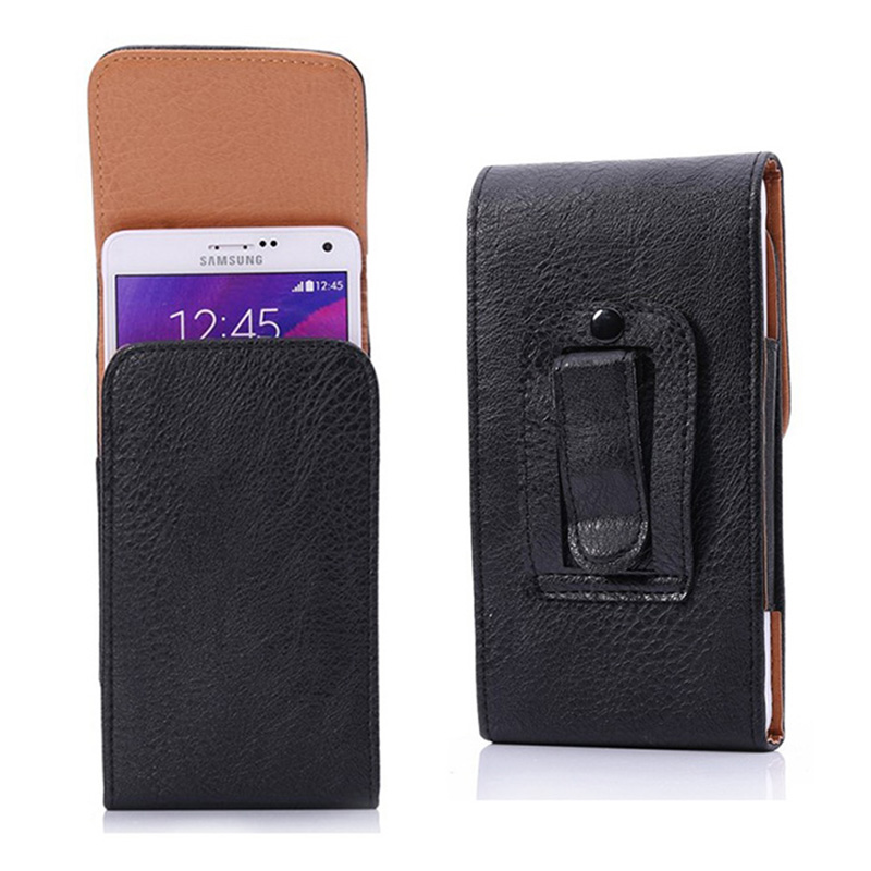 For Ulefone Be Pro 2 5.5 inch Belt Clip Cover Holster Black Flip PU Leather Purse Businiss Universal Phone Case For Most Phone