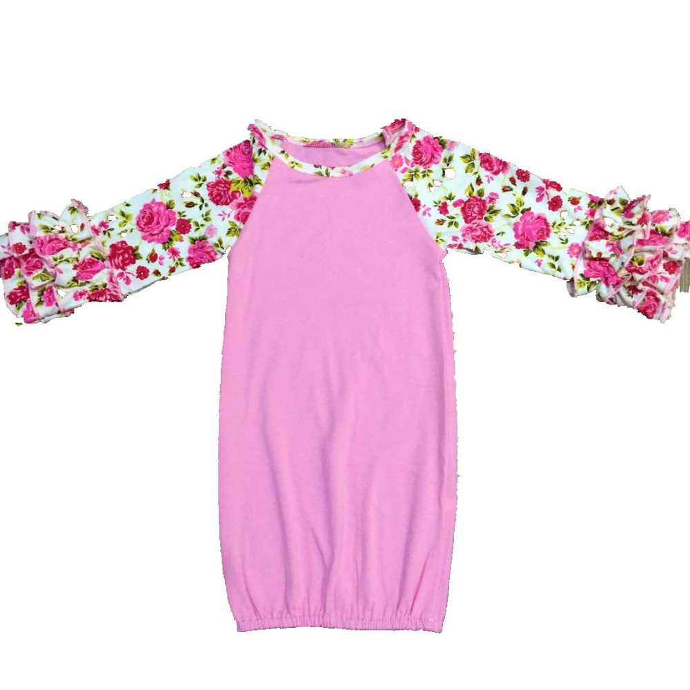 Baby Gowns Icing Sleeve nightgowns Baby Sleeping Bag Raglan Ruffle ...