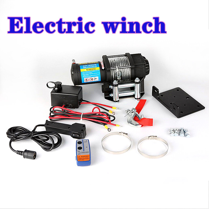 Winch Car Tuning Electric Winch  2000/3000/4000 /4500/6000/9500/12000lb 24v Handle/wireless Wire Rope ATV Winches For Beach Bugg