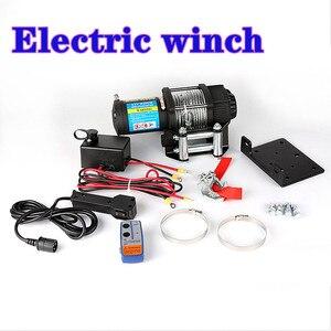 Winch car tuning kabestan elektryczny 2000/3000/4000 /4500/6000/9500/12000lb 24v uchwyt/bezprzewodowa lina stalowa ATV wciągarki na plaży bugg