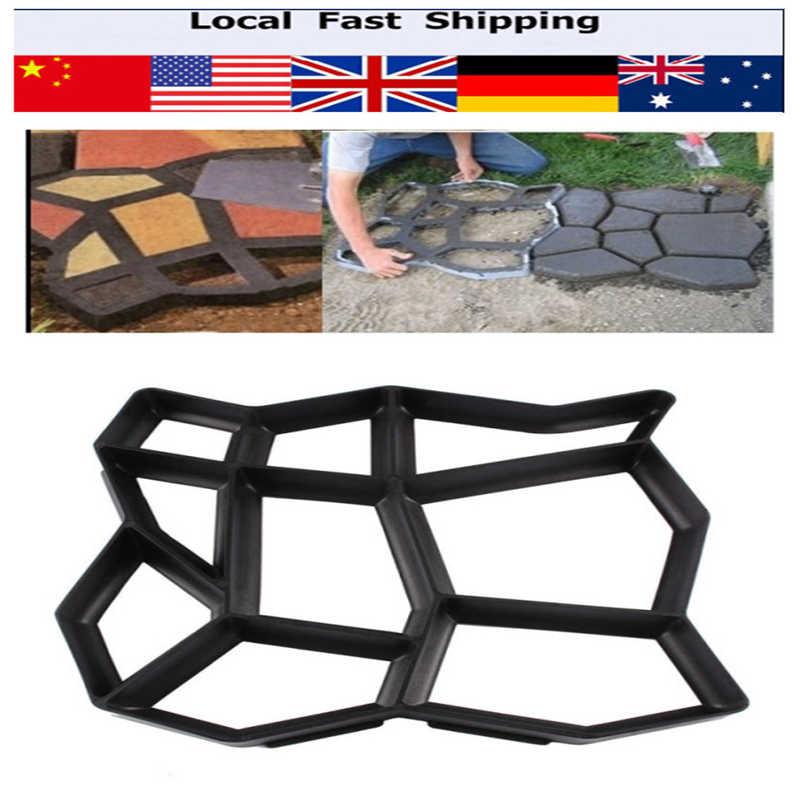 DIY Pavement Mold Driveway Paving Brick Patio Moldes Para Concrete Slabs  Path Pathmate Garden Artificial Stone Walk Maker Mould